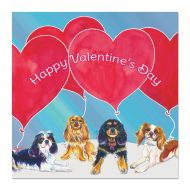 Big Balloons Valentine's Day Card