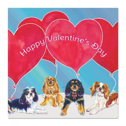 Big Balloons Valentine's Day Card