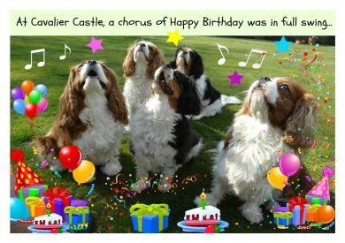 Cavalier Castle Birthday Card
