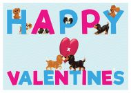 Happy Valentine's Cavalier Pups Card