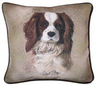 Blenheim Cavalier Jacquard Tapestry Cushion