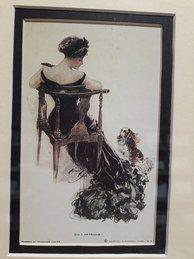 'Do I Intrude?' Vintage Post Card