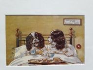 'Breakfast in Bed' Vintage Postcard 1912