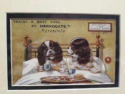 'Bed and Breakfast' Vintage postcard 1909