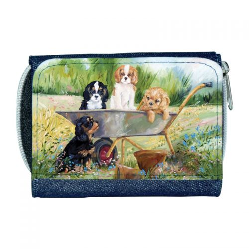 Flower Pot Pups Ladies Denim Purse