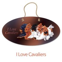 Flying Cavaliers Oval Hanging Sign