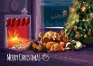 Sleepy Reindeer Single A5 Card