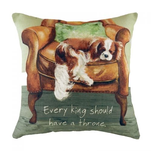 Little Dog Laughed & Evans Lichfield Cavalier Cushion Cover