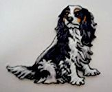 Embroidered Tricolour Cavalier Patch