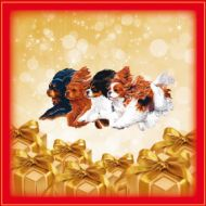 Golden Gifts Christmas Cavalier Wrapping Paper