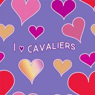 I Love Cavaliers Hearts Wrapping Paper