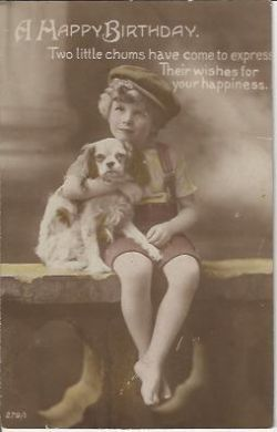A Happy Birthday 1916 Vintage Postcard