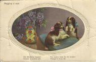 Begging A Seat 1908 Vintage Postcard