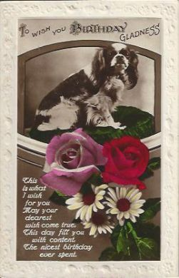 Birthday Gladness 1931 Vintage Postcard