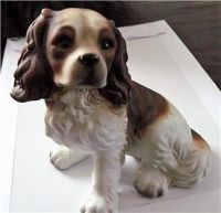 Vintage seated blenheim Cavalier